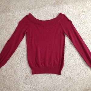 Forever 21 wine read knotted sweater